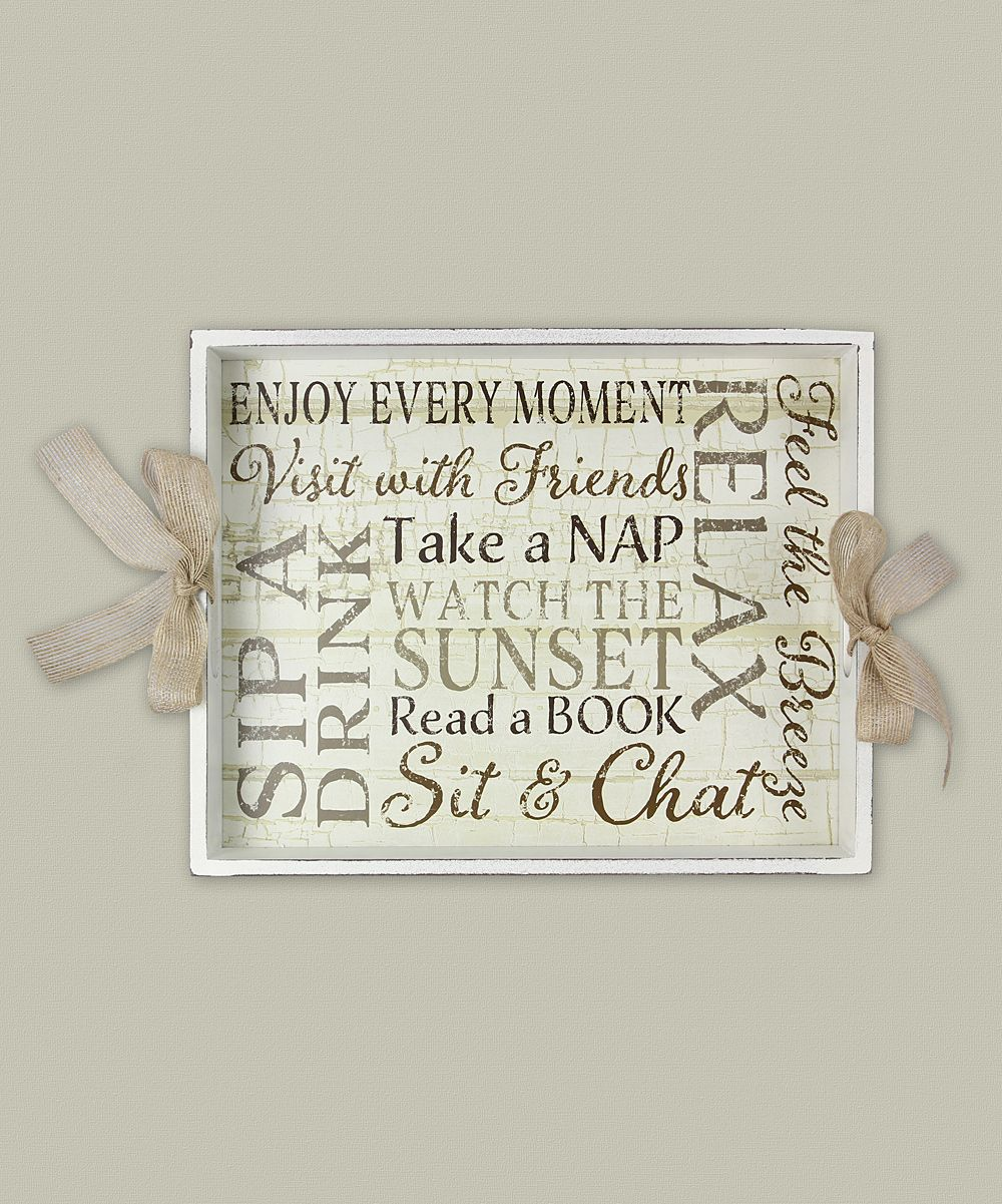 'Enjoy Every Moment' Wood Serving Tray