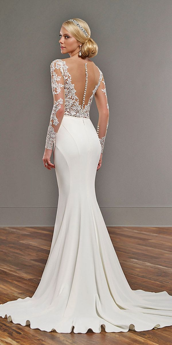 15 Gorgeous Tattoo Effect Wedding Dresses Be A Trend Setting Bride In