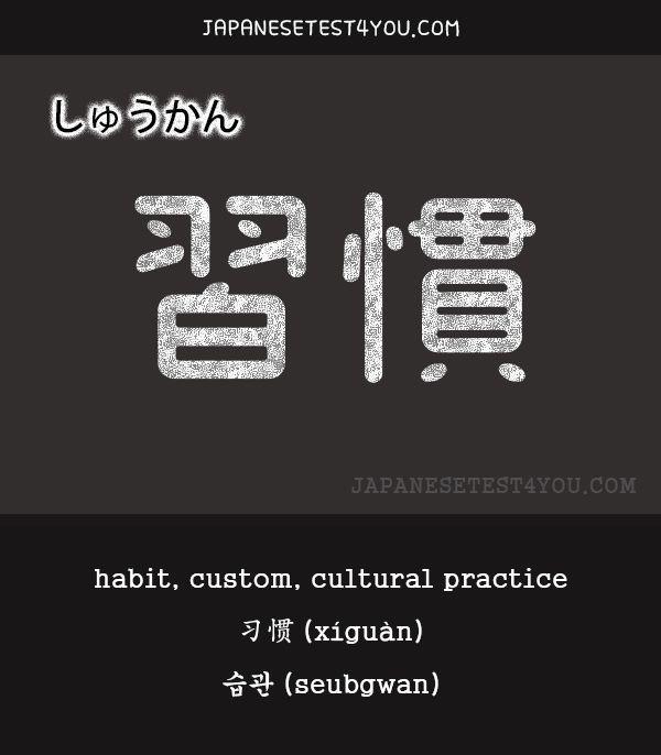Learn JLPT N4 Vocabulary: 習慣 (shuukan)