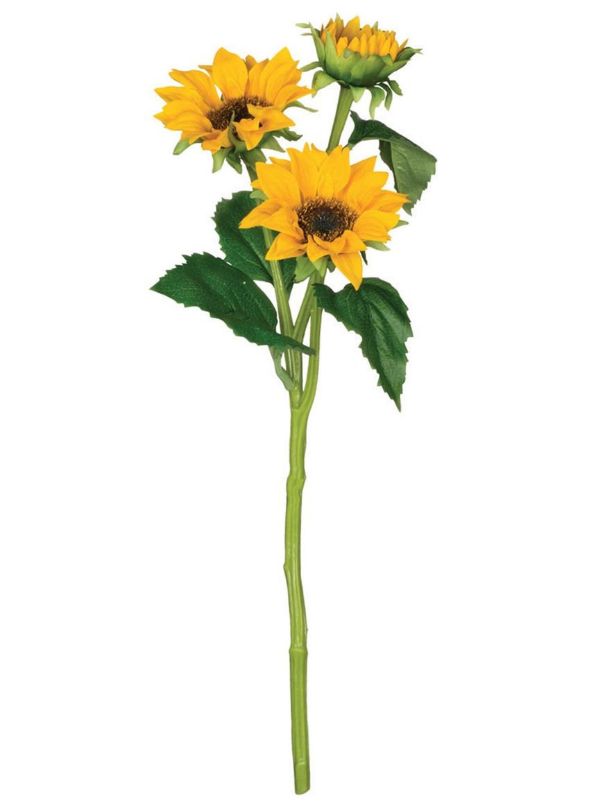 Faux sunflower spray in yellow gold get yellow faux summer for Flower sprays for weddings