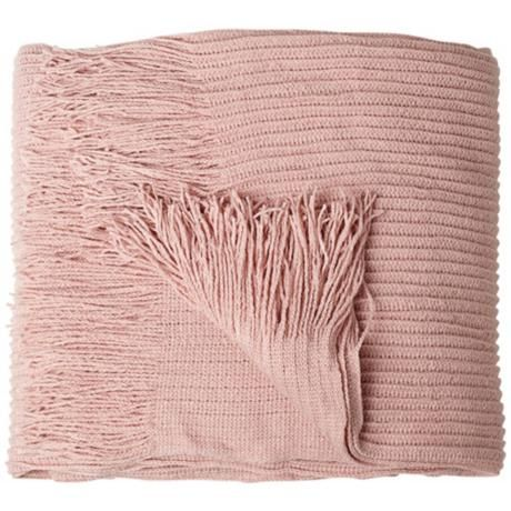 Blush Pink Throw Blanket