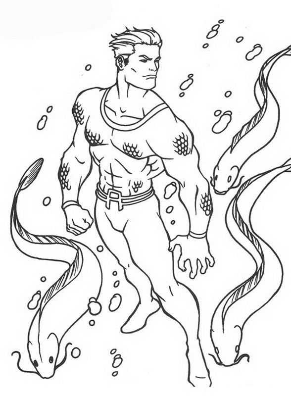 aquaman coloring pages # 11