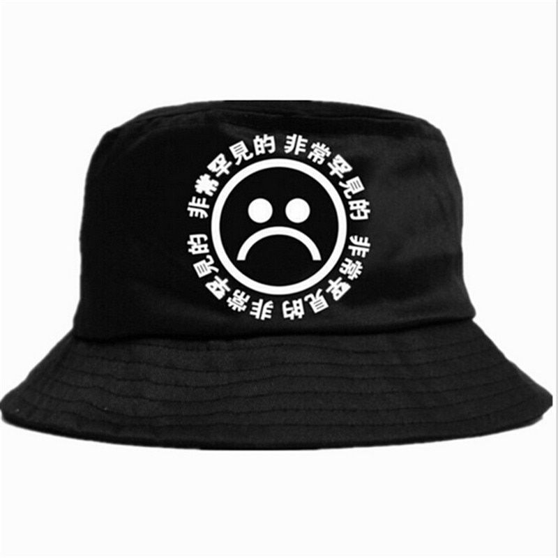 889c1b646 new Flat Fishman Hat Summer KYC Vintage Black Bucket Hat Sad Boys ...