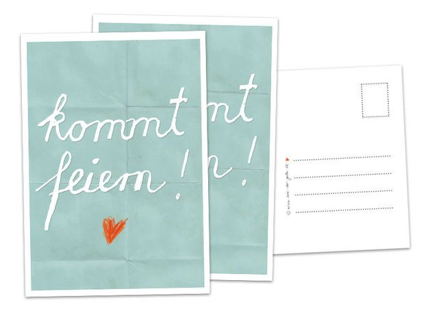 52 Einladungskarten Kommt Feiern! TÜRKIS Postkarte   Du Hast Was Zu Feiern?  Ob Für Deine Hochzeit, Deinen Geburtstag, Deine Einweihungsparty, ...