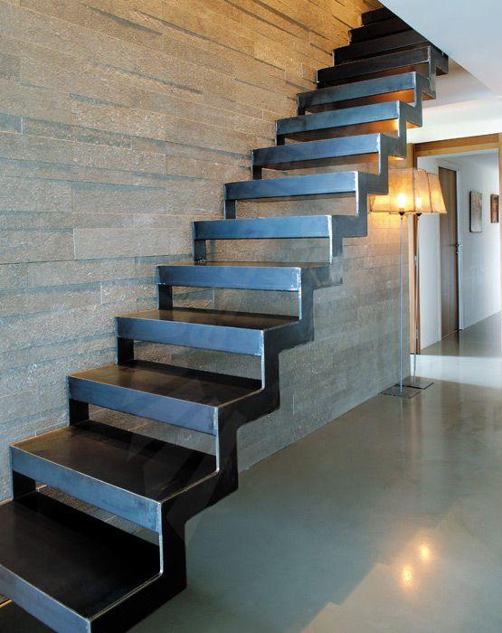 Escalier Droit Suspendu Sans Contremarche Dt39 Escaliers Decors