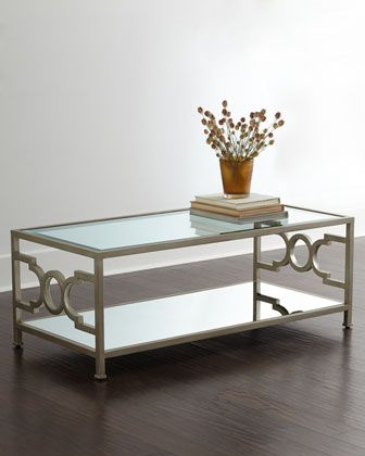 Candice Olson Hendrix Mirrored Coffee Table Mirrored Coffee