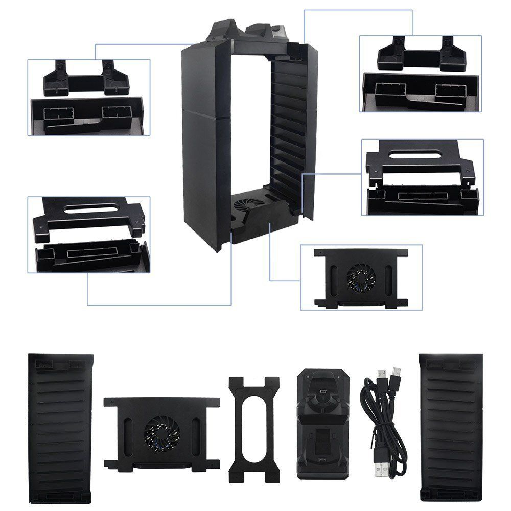 Yichumy Multifunctional Cooling Fan Stand And Ps4 Game Storage