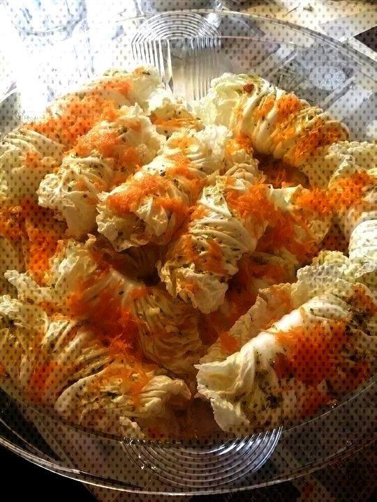cabbage stuffed with mozzarella and feta cheese -  Chinese cabbage stuffed with mozzarella Chinese