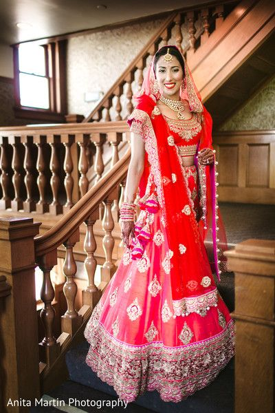 Maharani in beautiful bridal lengha http://www.maharaniweddings.com/gallery/photo/87529