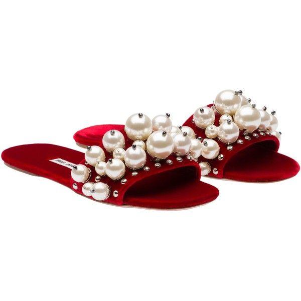 Miu Miu SLIPPERS featuring polyvore, women's fashion, shoes