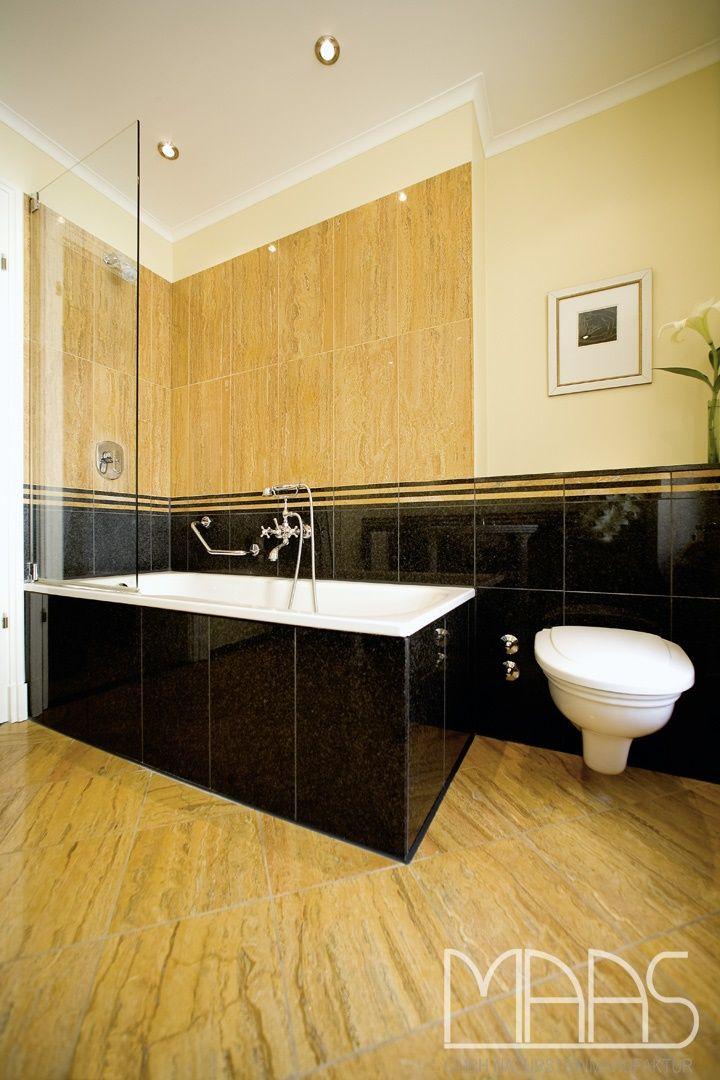 badezimmer mit granit fliesen nero impala und yellow bamboo. http, Badezimmer ideen