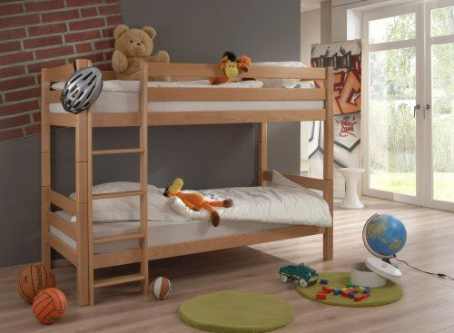 Etagenbett Doppelstockbett : Etagenbett doppelstockbett hochbett bett lupo kinderzimmer buche