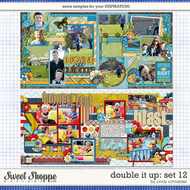Sweet Shoppe Designs :: Templates & Tools :: Layout Templates :: Cindy's Layered Templates - Double It Up Set 12 by Cindy Schneider