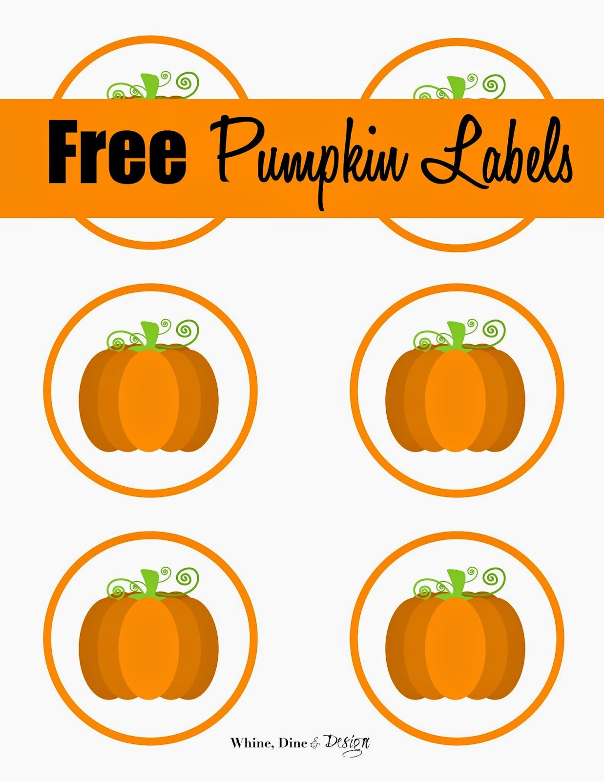 Free Printable Pumpkin Labels Cupcake Toppers