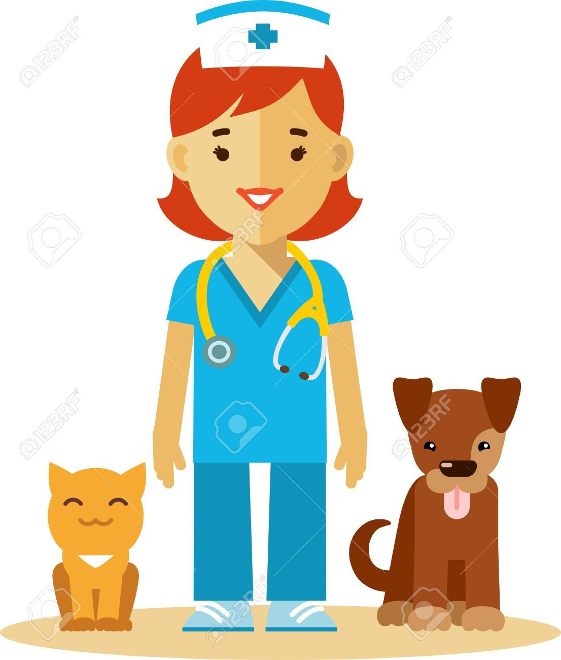 Image result for VET DOCTOR FLAT IMAGES | Doctor cat, Cats ...