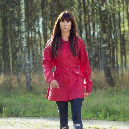 B Vertigo Louisa Women's Raincoat in Scarlet Sage Red