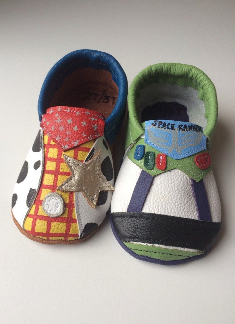 Toy Story Leather Moccasins, Woody and