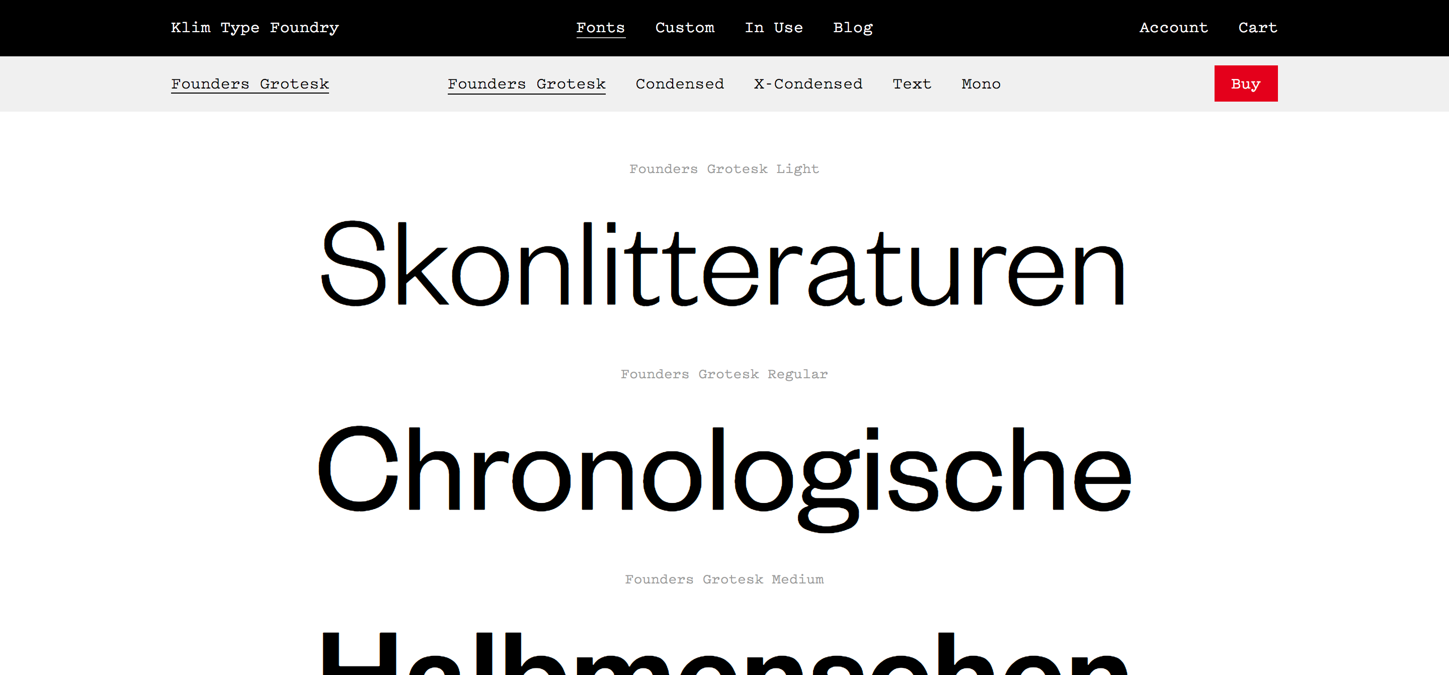 Founders Grotesk Fonts · Klim Type Foundry | Type | Fonts, Type, Design
