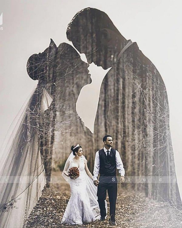 18 Double Exposure Wedding Photo Ideas | Roses & Rings