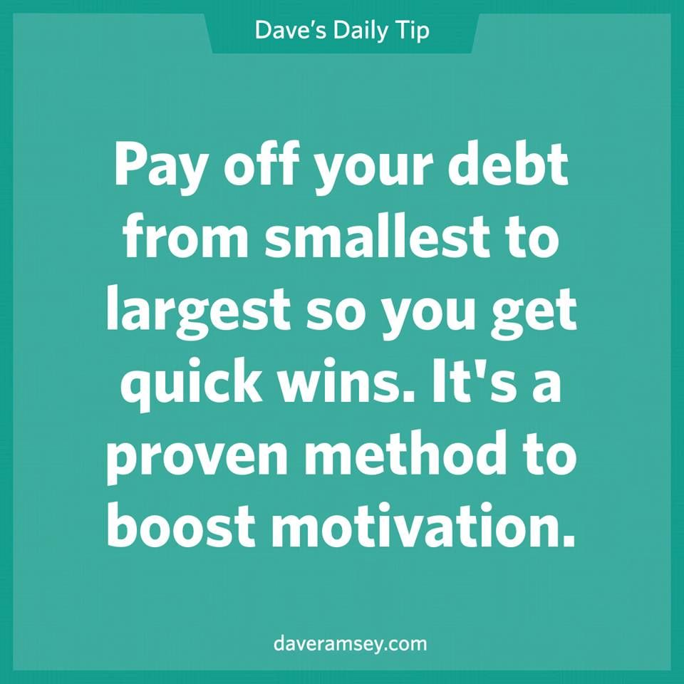 Pay Off Your Debt From Smallest To Largest So You Get