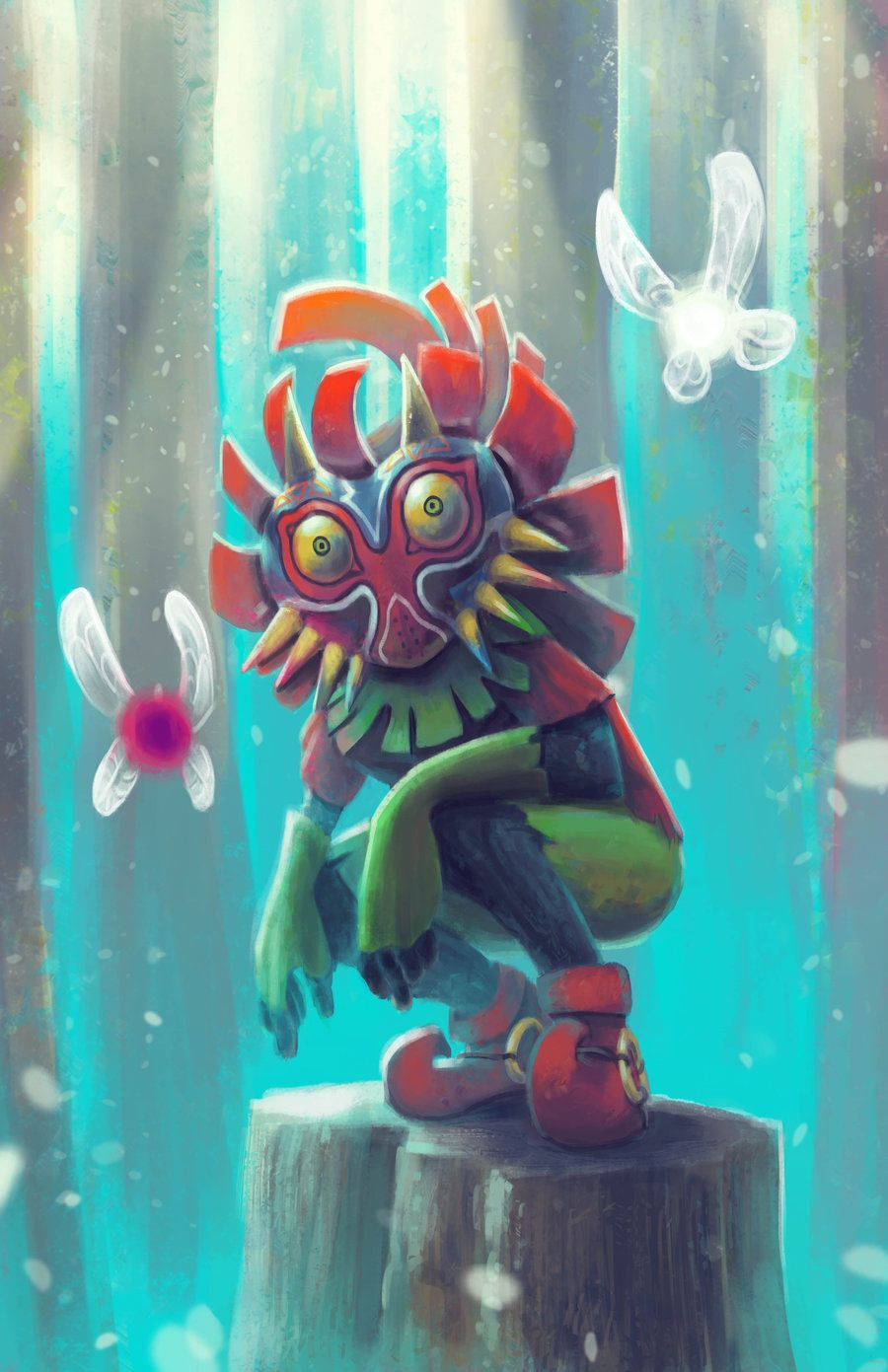 Skull kid tael and tatl by novuhviantart on deviantart