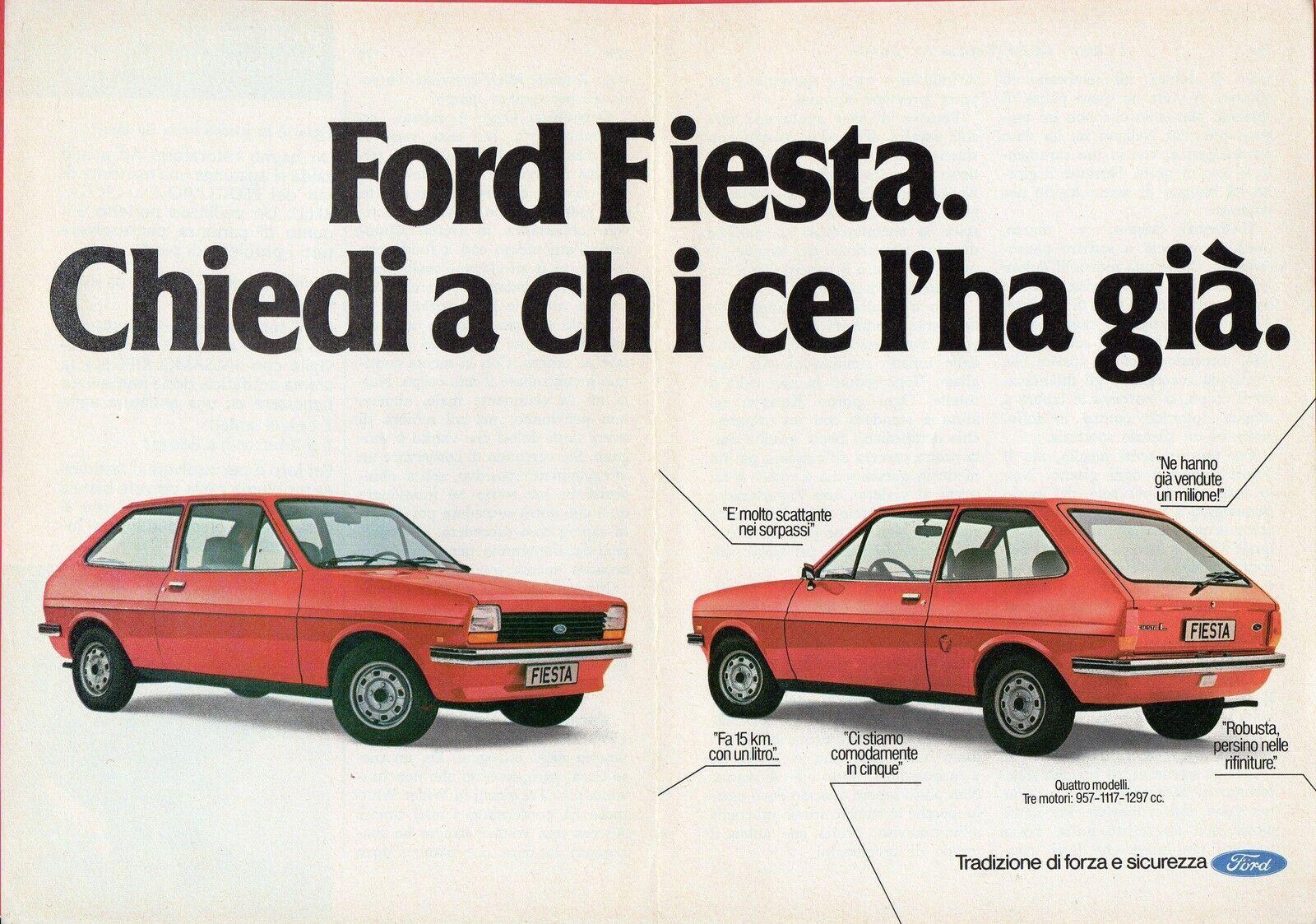 Publicidad Ford Fiesta Italiana Ford Fiesta Ford Fiesta Mk1