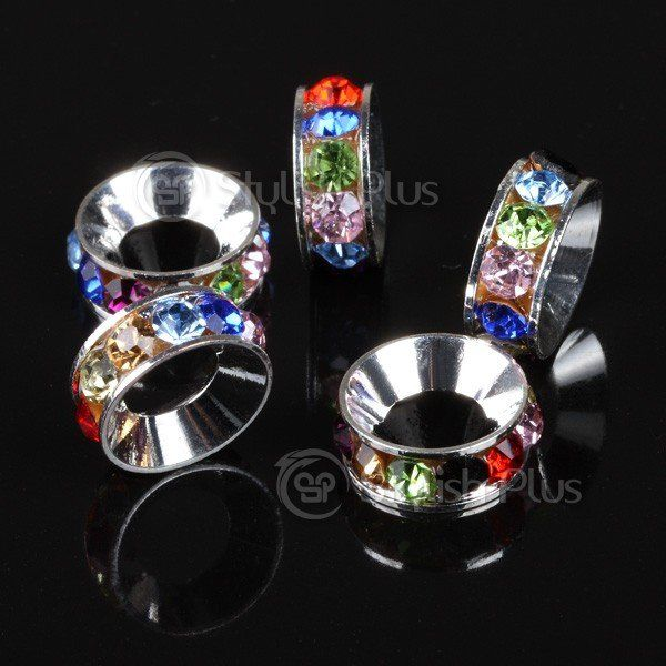 LOVIN these translucent 5 pcs Alloy Crystal Loop Bead Chromatic rings!!!! ❤