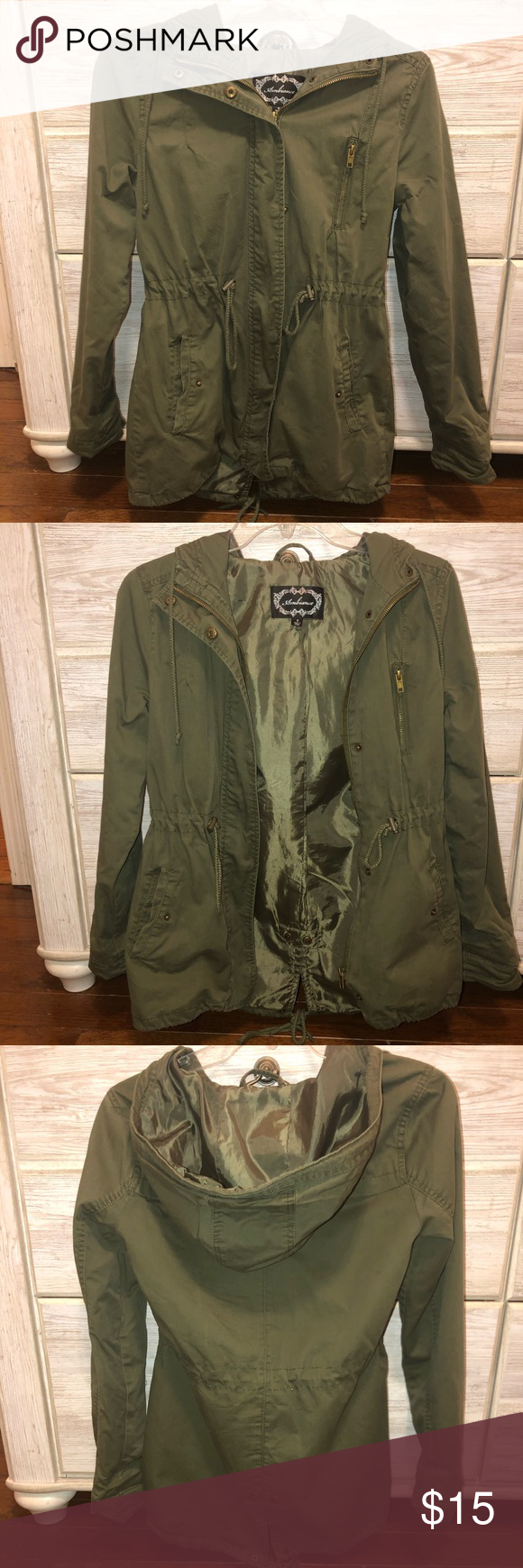 Ambiance Green Jacket With Pockets Green Jacket Jackets Clothes Design [ 1740 x 580 Pixel ]