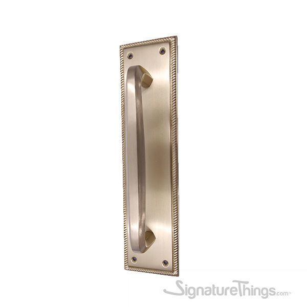Roped Push Plate With Hexagon Bar Door Handle Solid Brass Door Pull Plates In 2020 Door Handles Brass Door Hexagon