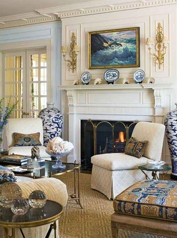 Living Room Designs Traditional: A Bit Formal, But I Love The New Englad-y Feel And The