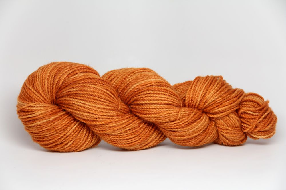 Snow Capped Yarns colorway: An Alpine Autumn hand-dyed in Cordova, Alaska
