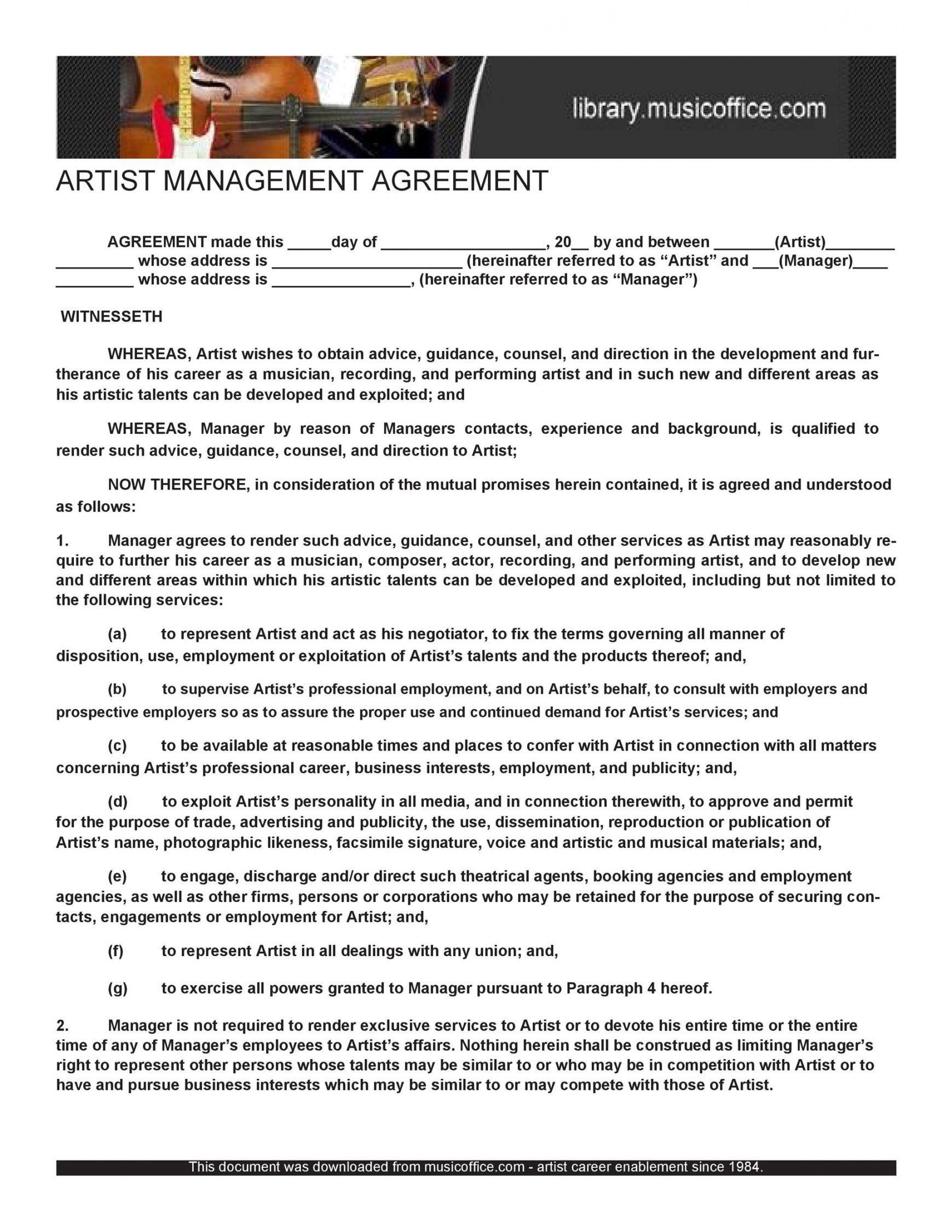 Best Art Commission Contract Template Pdf Example In 2021 Contract Template Math Lesson Plans Template Artist Management