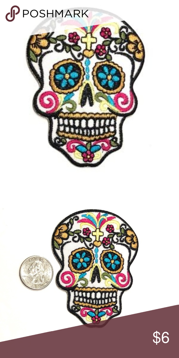 DAY OF THE DEAD  Iron On Patch Dia De Los Muertos Holiday