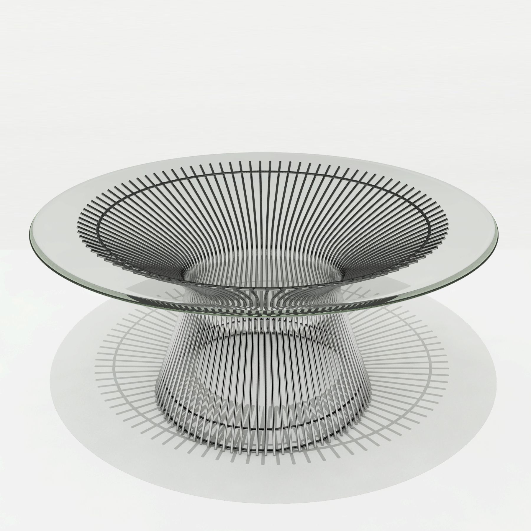 3D drawing of coffee table for website