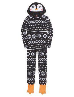 b648ad42b9 Hooded Penguin Onesie. Hooded Penguin Onesie Cute Pjs ...