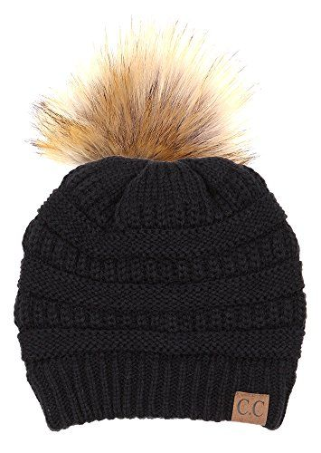 H-6043-06 Solid Ribbed Beanie with Faux Fur Pom - Black Funky Junque http://www.amazon.com/dp/B0167DXYHE/ref=cm_sw_r_pi_dp_ca4Zwb1N8K186