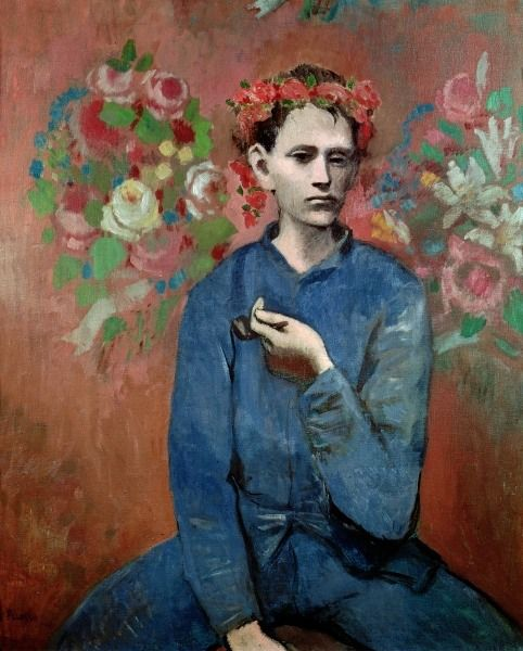 Picasso, Pablo: Boy with a Pipe, 1905.  Once owned by Jock and Betsey Whitney; sold by Sotheby's, NYC.
