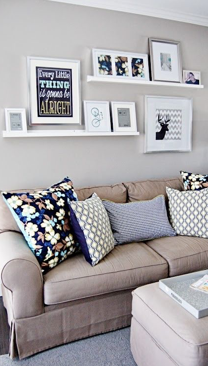 Shelves With Picture Frames Home Decor Small Space Living