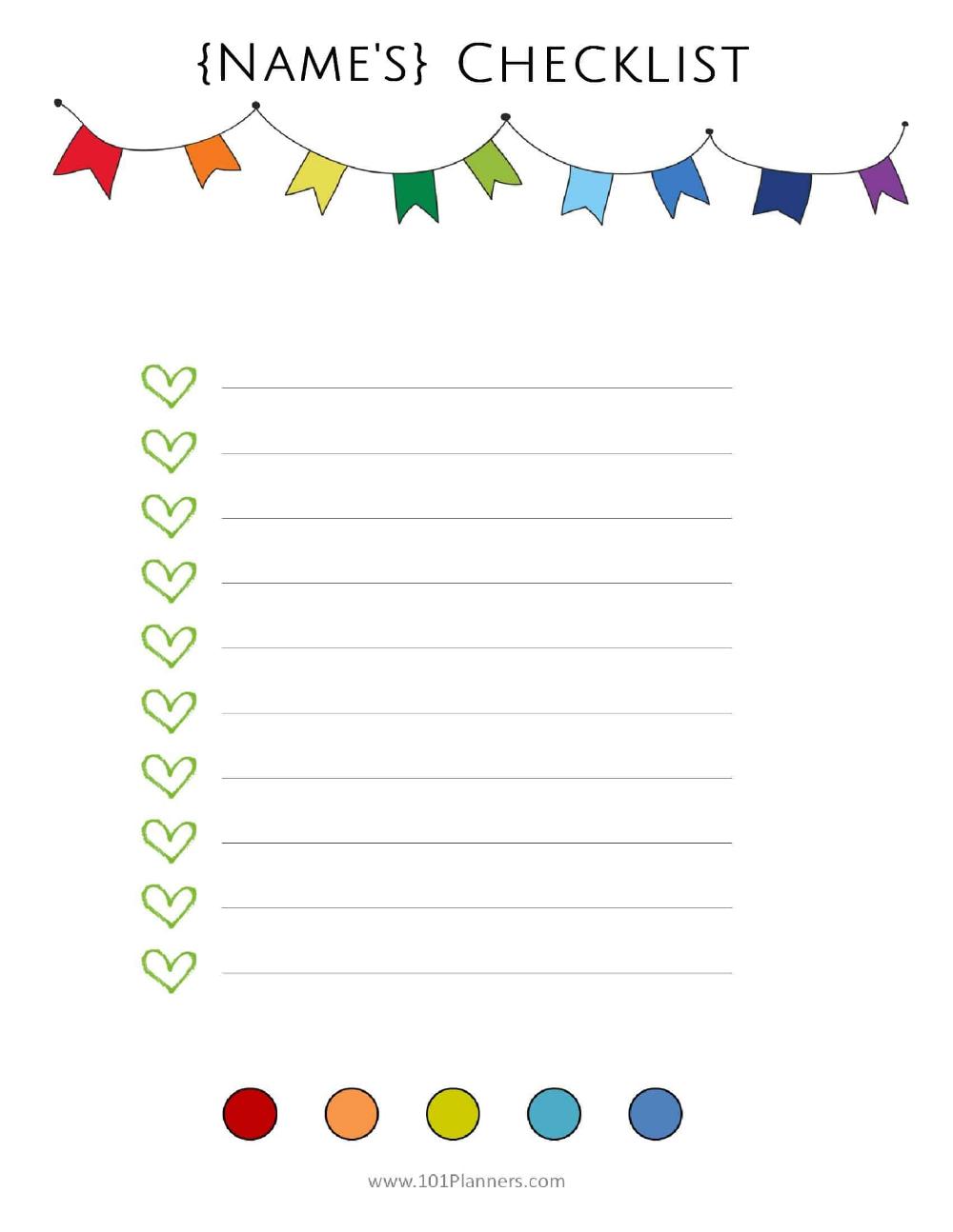 Free Checklist Template Use The Checklist Maker Online Or Print The List Checklist Template Printable Bucket List Free Printable Bucket List