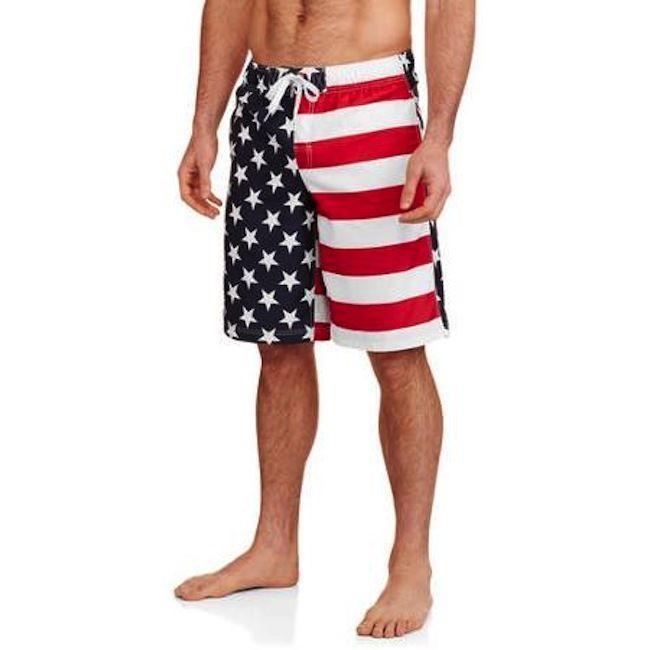16452b95543e Men's USA American Flag Patriotic Board Shorts Swim Trunks Medium M NEW  #FadedGlory #BoardShorts