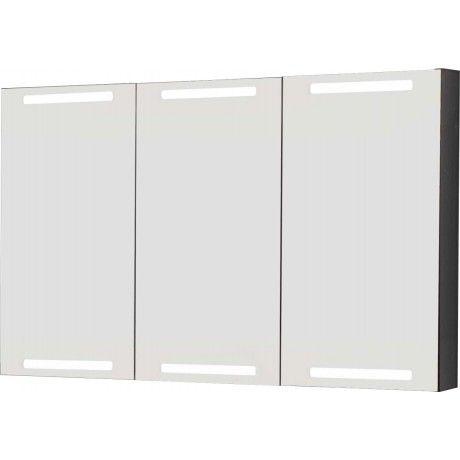 Dansani LED Spiegelschrank, 120 x 80cm - mit Lichtstreifen oben - spiegelschrank f rs badezimmer