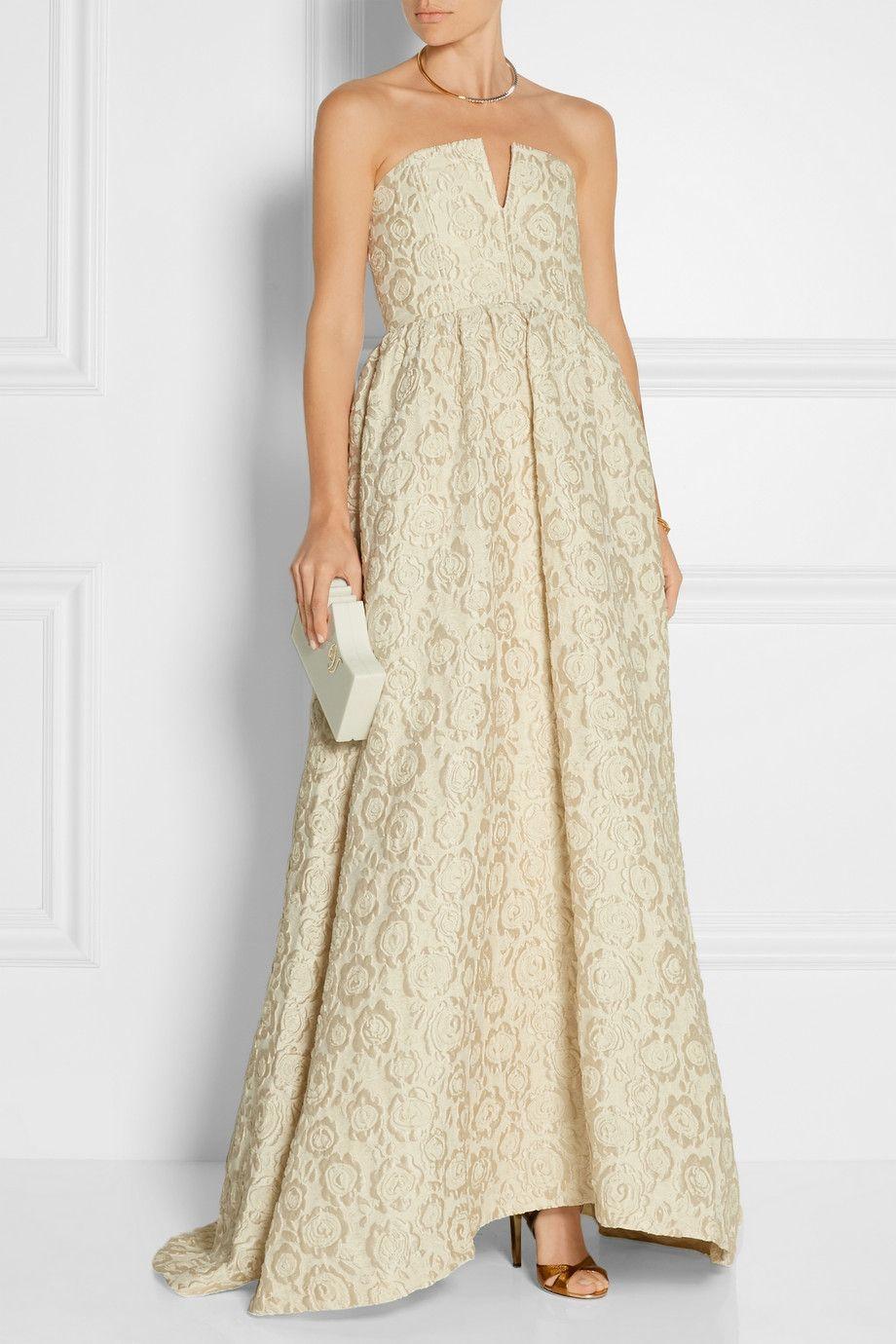 Alice olivia axmis jacquard gown netaportercom wedding