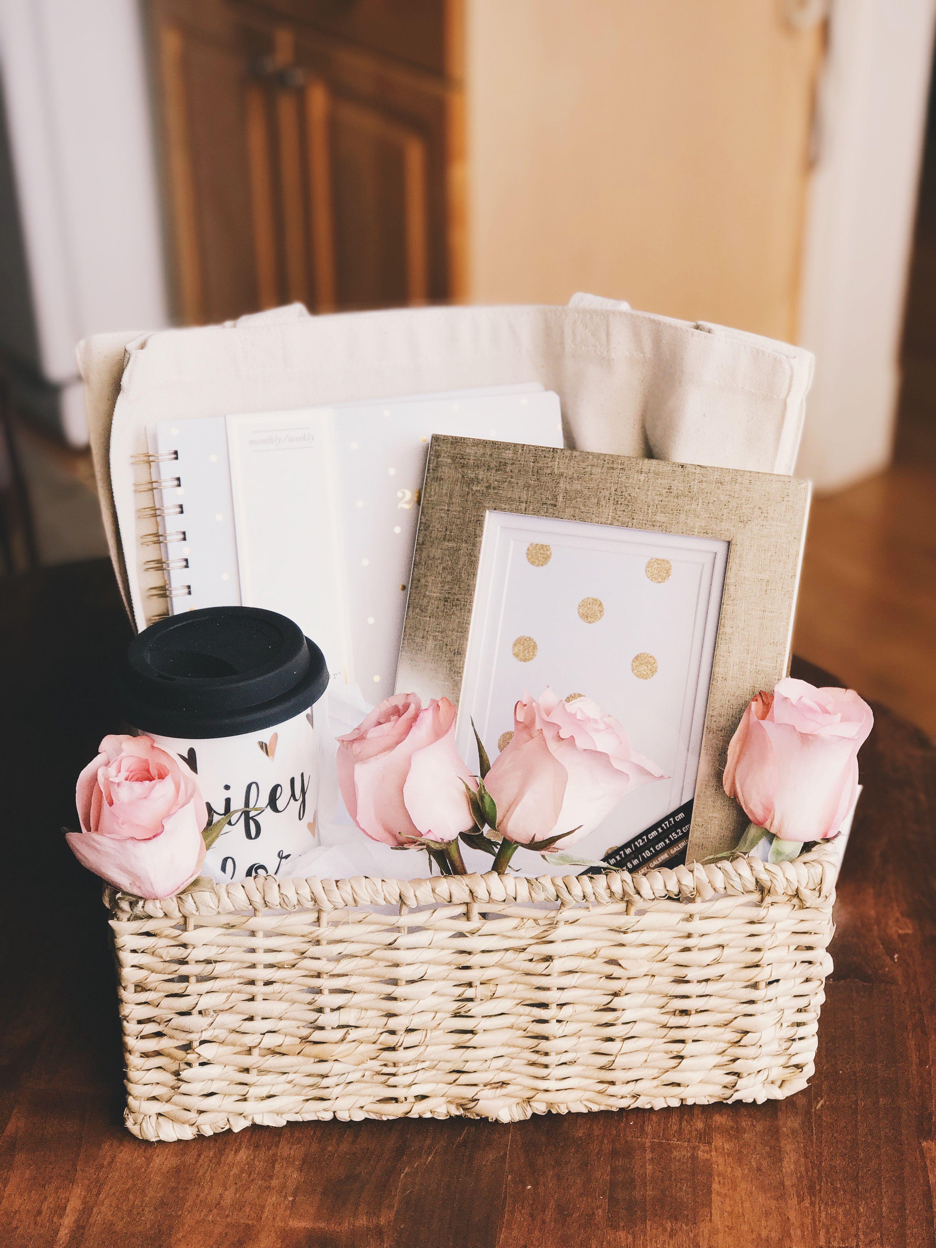 Diy Engagement Basket Made By Me Gift Baskets Pinterest