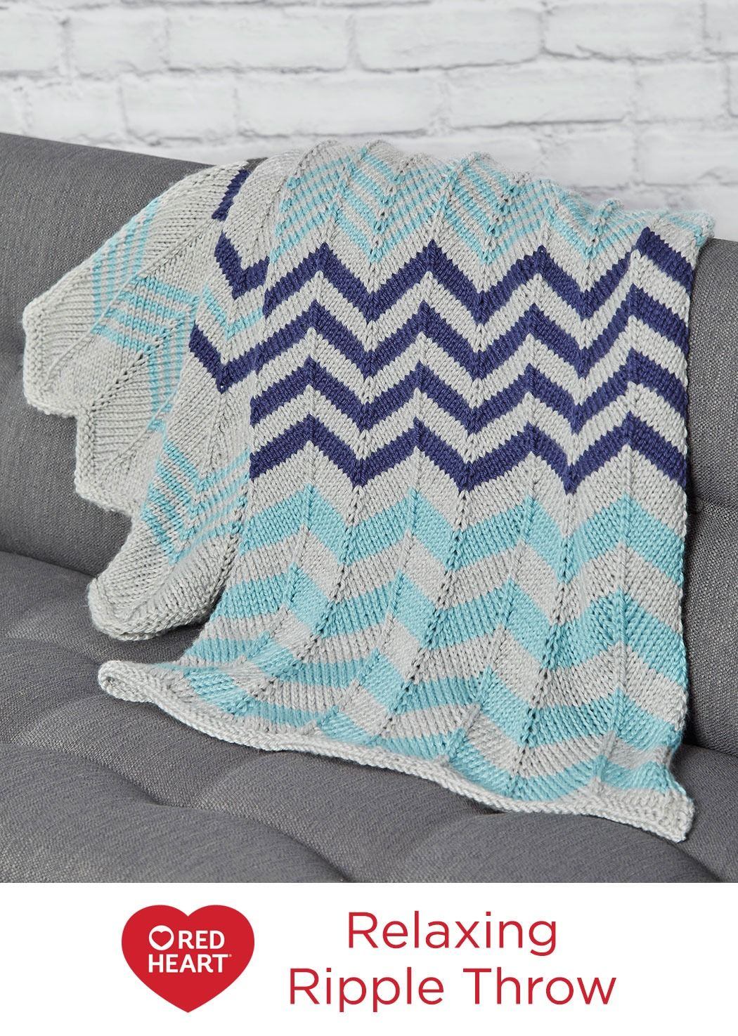 Relaxing ripple throw free knitting pattern in red heart soft relaxing ripple throw free knitting pattern in red heart soft essentials yarn zigzags are bankloansurffo Image collections