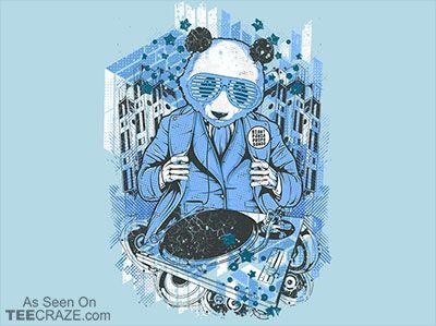 Giant Panda Propa Ganda T-Shirt - http://teecraze.com/giant-panda-propa-ganda-t-shirt/ -  Designed by Crack Smoking Shirts