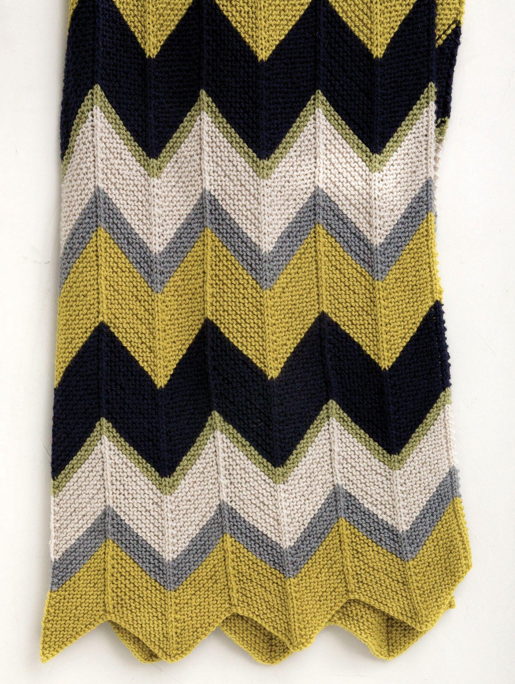 Updated Ripple Afghan (Knit) | knitting | Pinterest | Ripple afghan ...