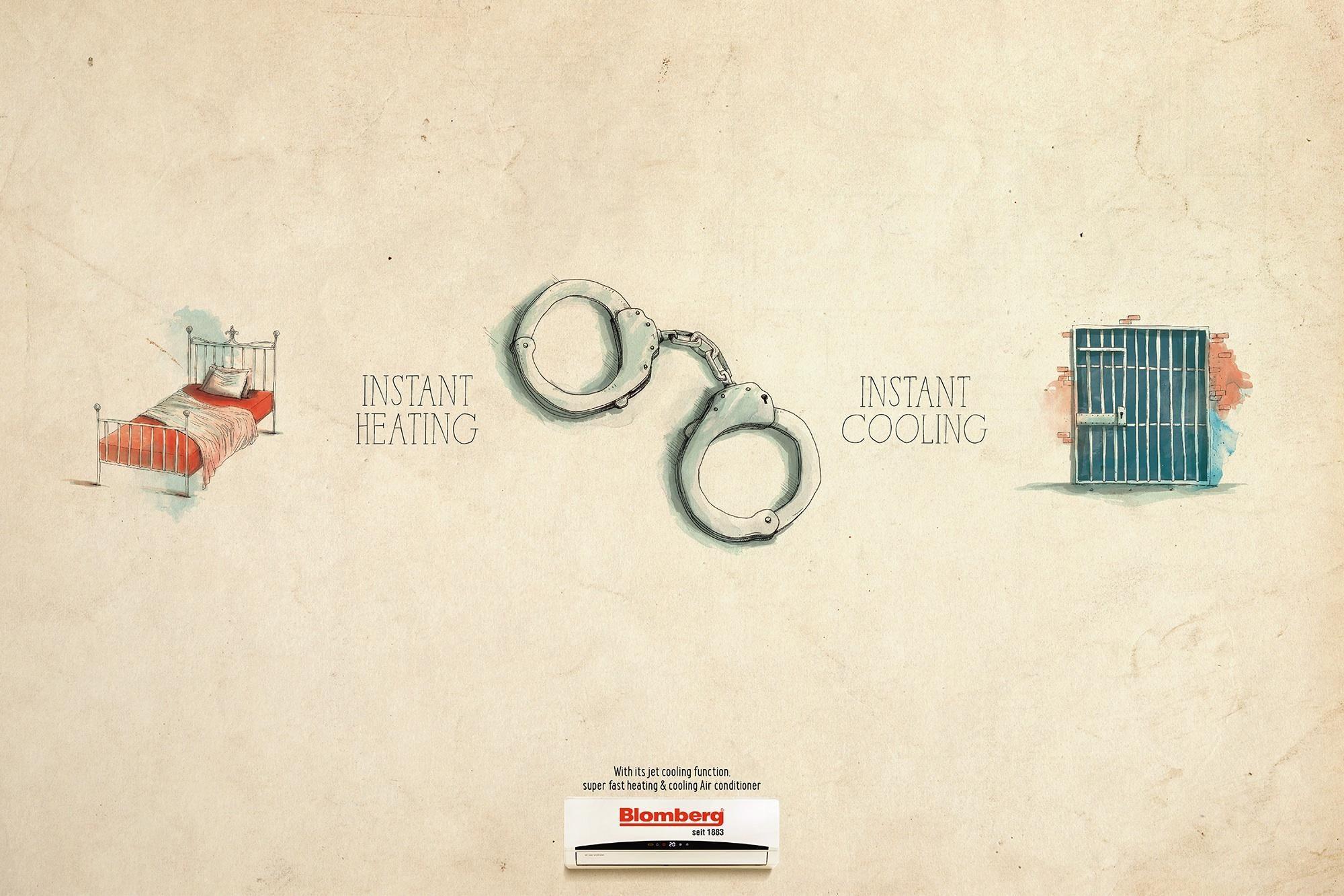 Blomberg Handcuffs Ads Of The World Como Fazer Um Anuncio Publicidade E Propaganda Dia A Dia Receitas