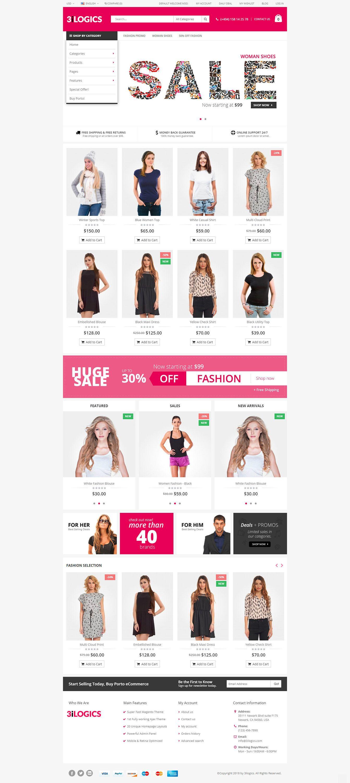 Ecommerce Website Design Template Custom Ecommerce Wordpress Etsy Ecommerce Website Design Website Template Design Fashion Website Design