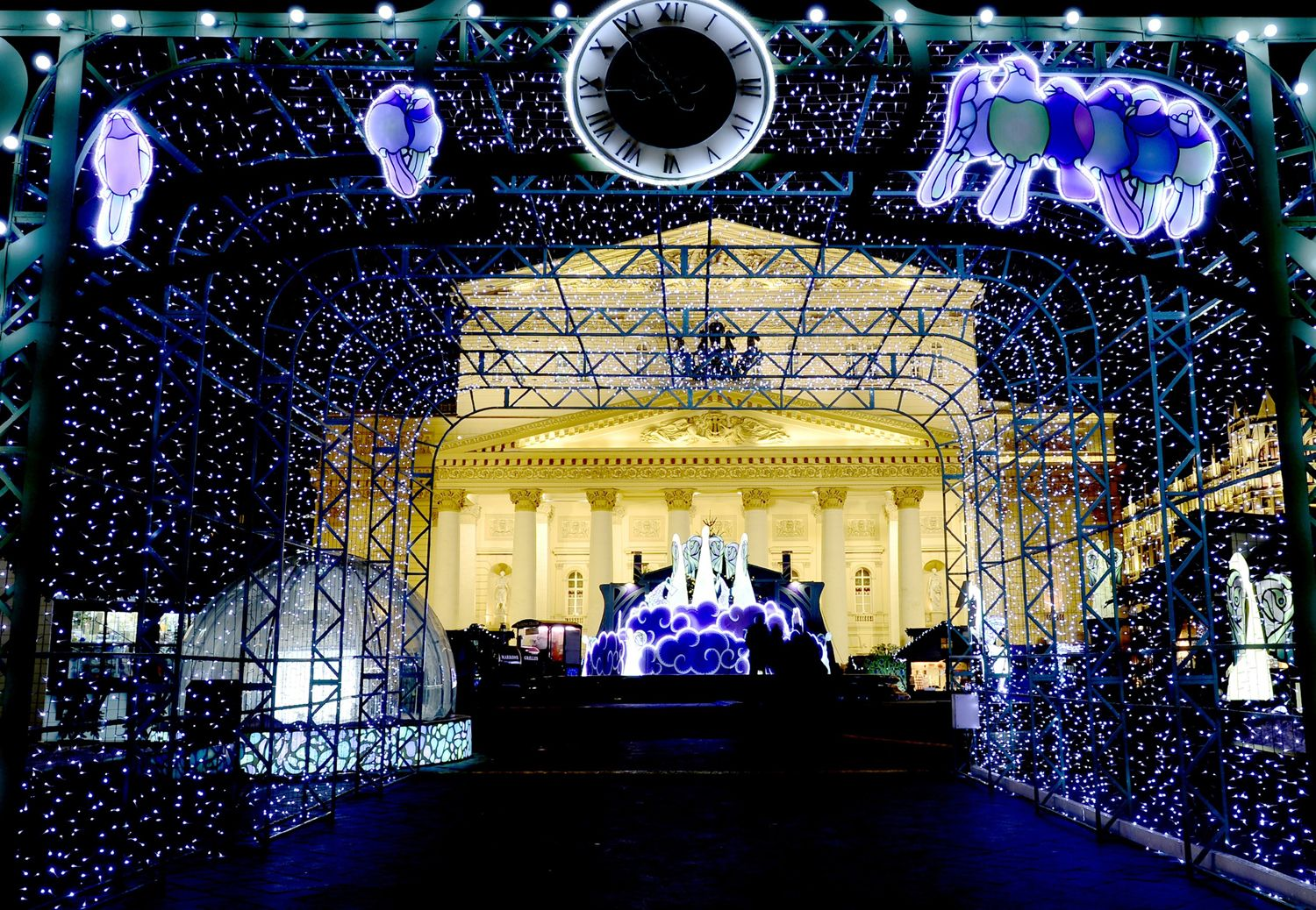 Streets are lit ahead of Orthodox Christmas celebrations in Moscow.   - HouseBeautiful.com