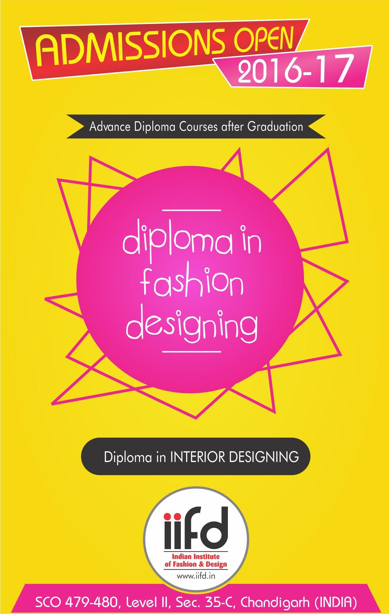 Advance Diploma In Fashion Interior Designing Admission Open